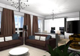 Дизайн и производство мебели по индивидуальному заказу для квартиры в элитном ЖК «Дом на улице Нижне-Каменская»