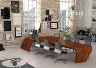 Дизайн-проект и изготовление мебели для кабинета руководителя по индивидуальному заказу.