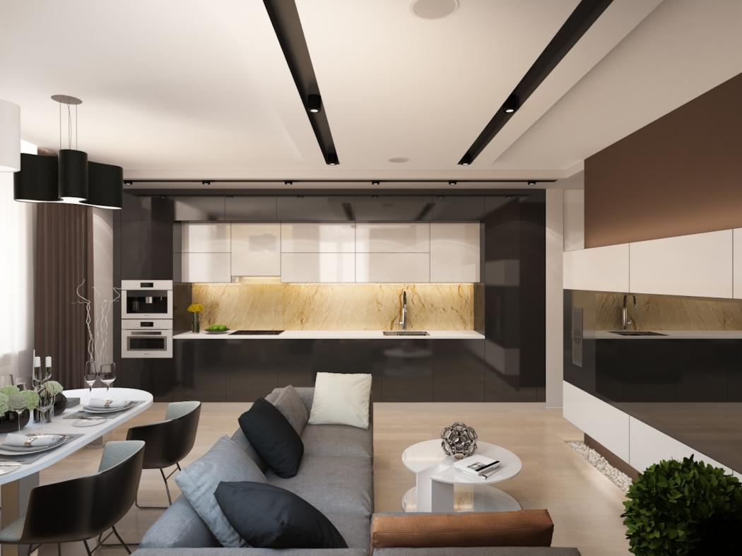 Дизайны кухни с гостиной фото 2018 современные идеи